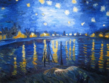 Master Copy of Van Gogh's Starry Night Over The Rhone